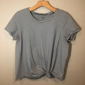Madewell black and white striped tee